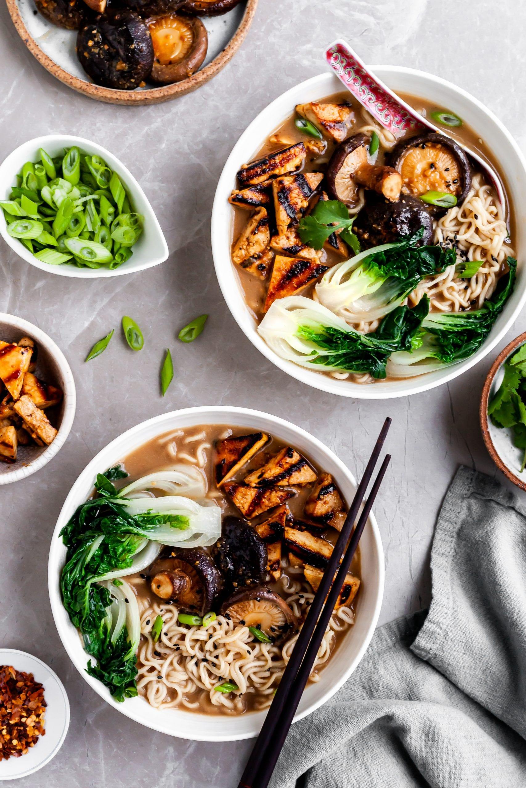 Vegan Mushroom Miso Ramen