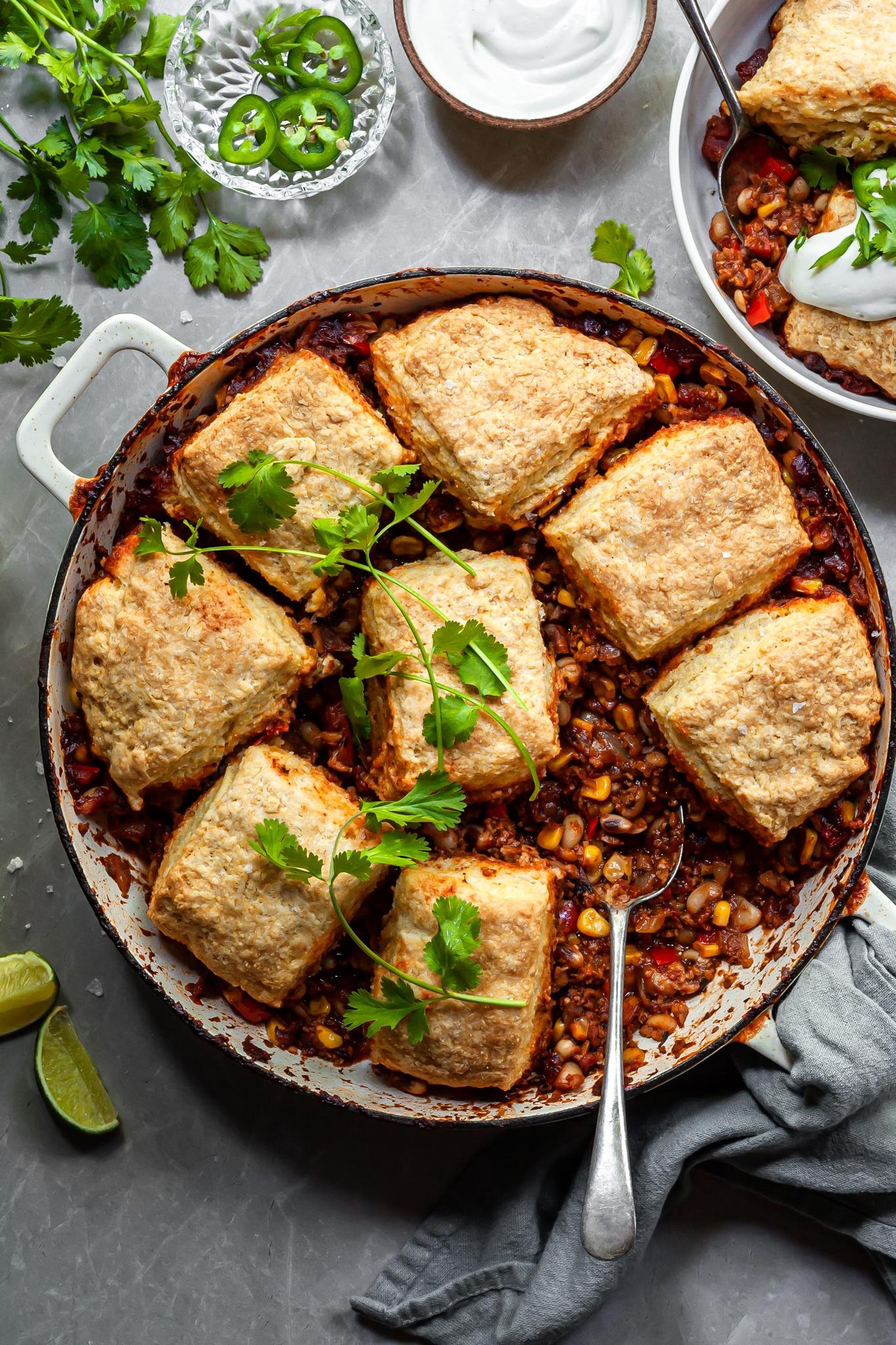 Vegan Chili Pot Pie